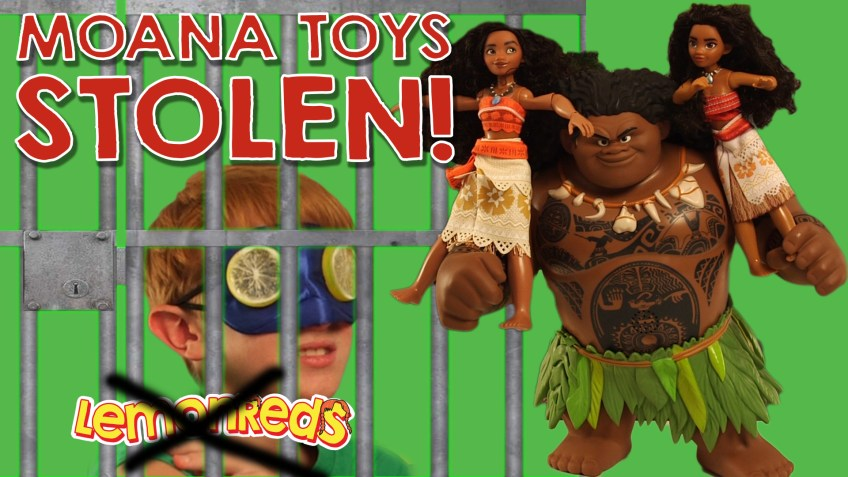 Moana Toys Stolen from the set by Working with LeMANs! | LemonReds Toy Review Hijacked