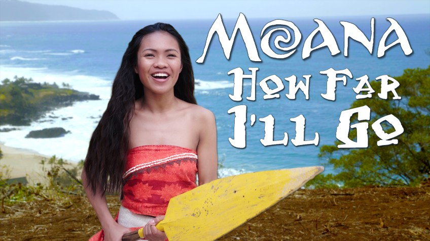 Disney Moana How Far I'll Go - Official In Real Life music video from the movie