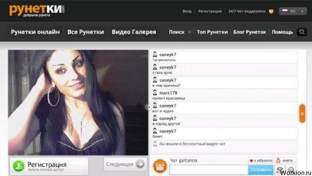 Онлайн видеочат на рунете кончил лицо