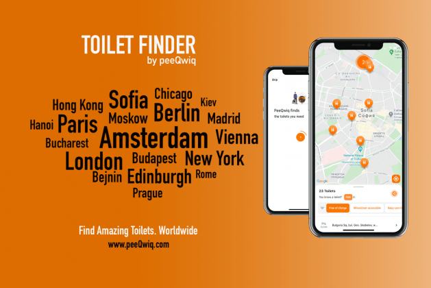 PeeQwiq – The Toilet finder app