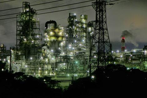 四日市工場地帯夜景撮影lumix-lx7