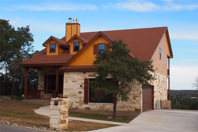 custom home in Wimberley