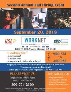 Thursday, September 20, 2018 Hiring Event