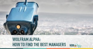 Wolfram Alpha: How to Find the Best Managers