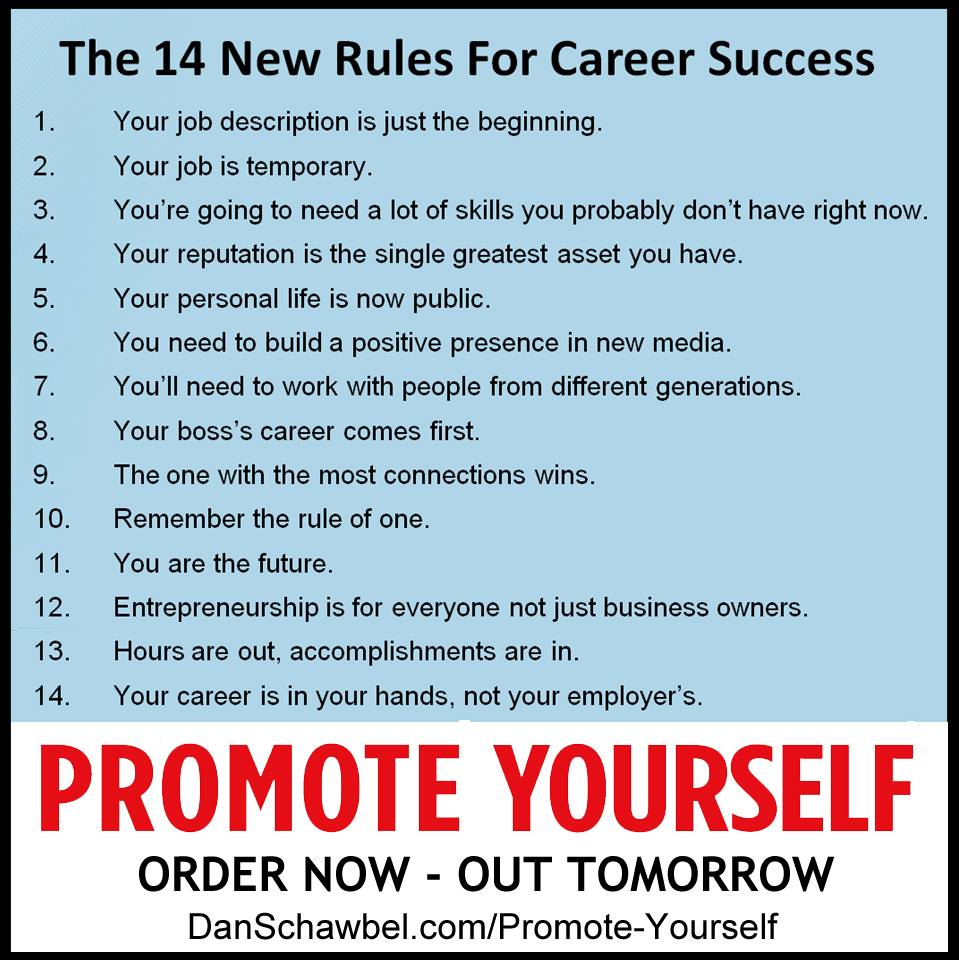 career manipulation advice jpg ssl 1 promote yourself which happens to also be available for purchase today on amazon affiliate link i was reminded that your career while all about you