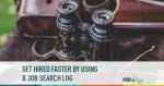 job search, job search organization, job search log, job search organized,