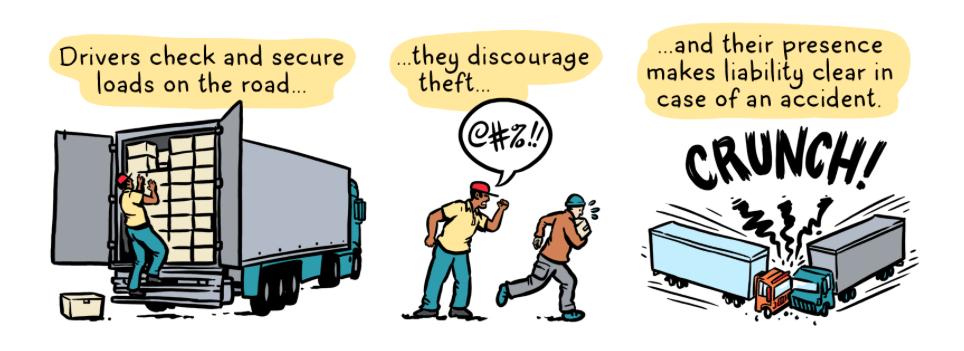 driverless trucks, driving, trucking