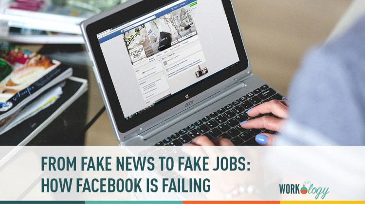 fake news, Facebook jobs