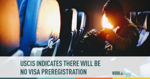 USCIS indicates no visa pregesigration