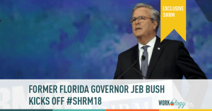 Former Governer Jeb Bush Kicks Off #SHRM18