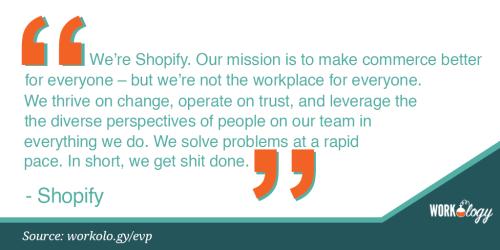 Employee value proposition EVP Shopify