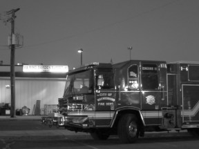 Un camion de pompiers entier de dîner à Mings