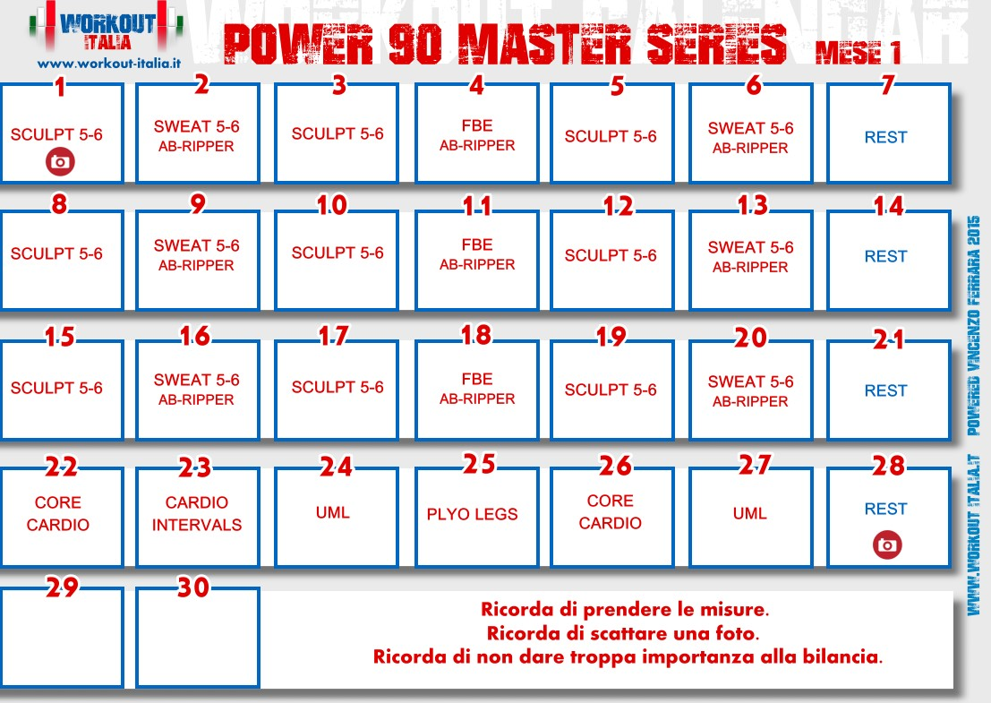P90x3 Workout Sheet
