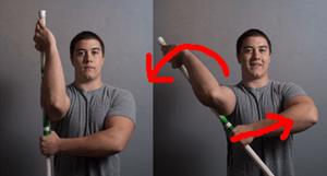 肩関節 外旋ストレッチ