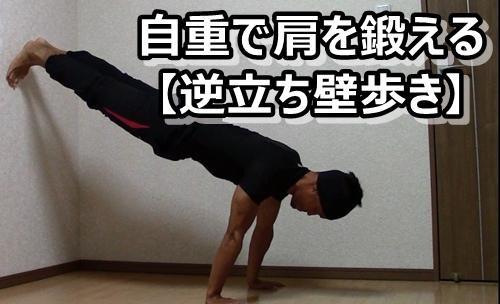 【肩の自重トレバリエーション】逆立ち壁歩きのやり方とコツ