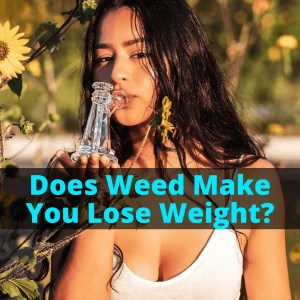 Girl smoking weed to lose weight