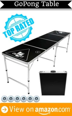 Best portable beer pong table