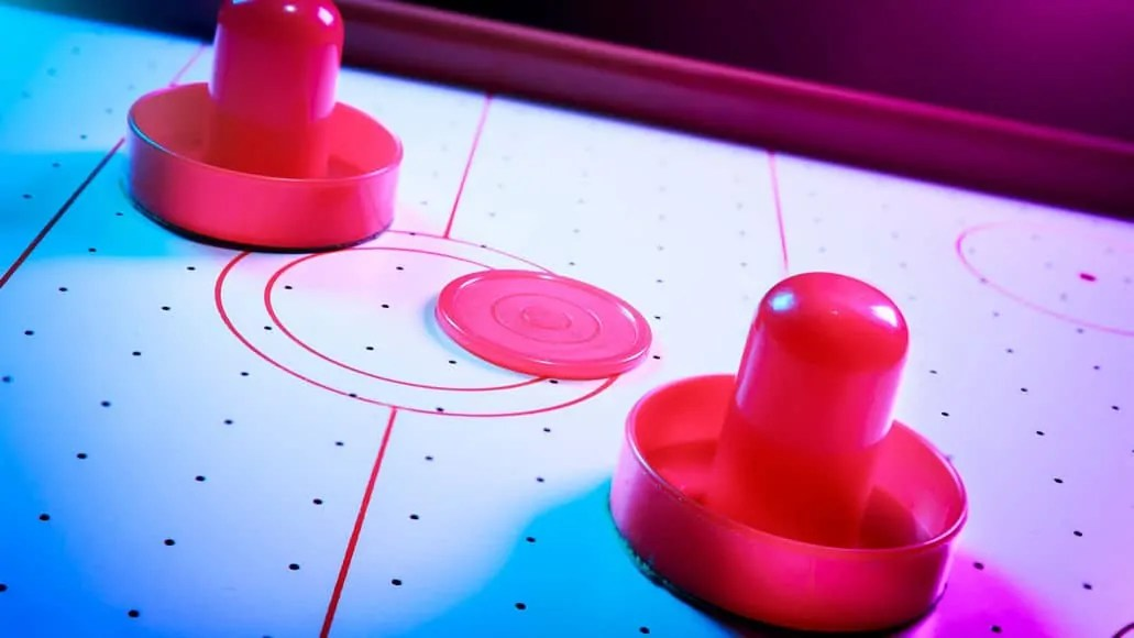 Mallets and puck for air hockey