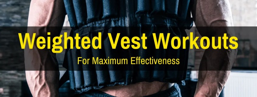 Working out in a weighted vest