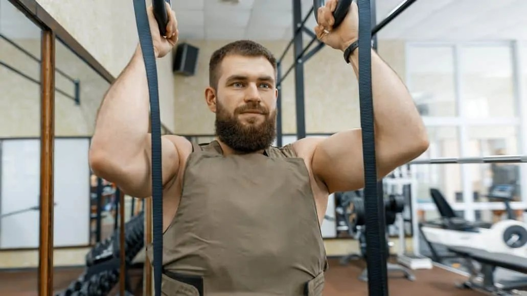 Pull-ups with a weight vest