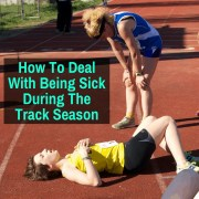 Girl being sick during track season