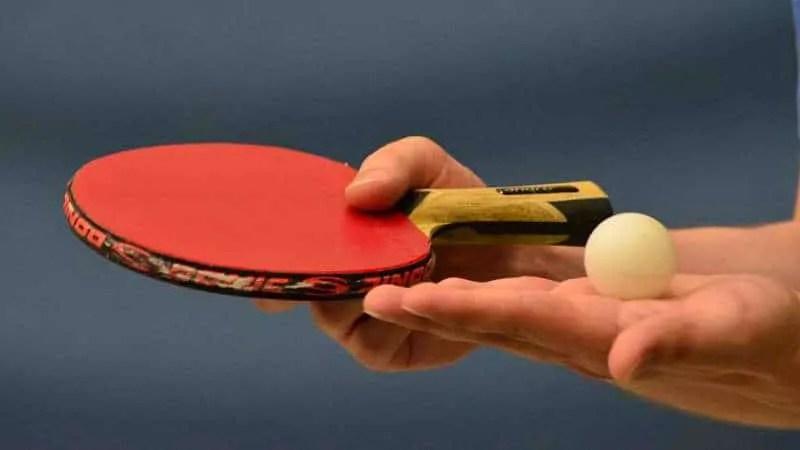 A table tennis serve