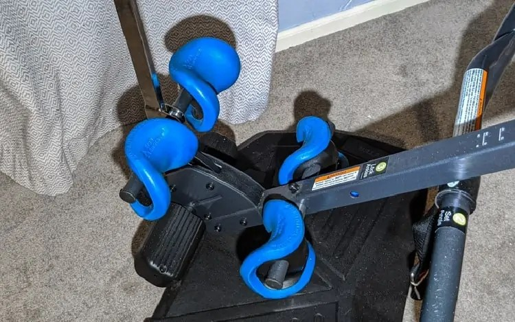 support pads for ankles on inversion table