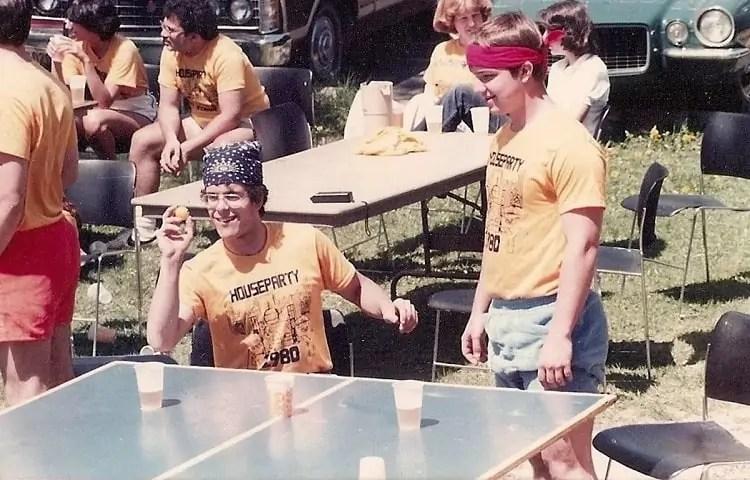 origins of beer pong