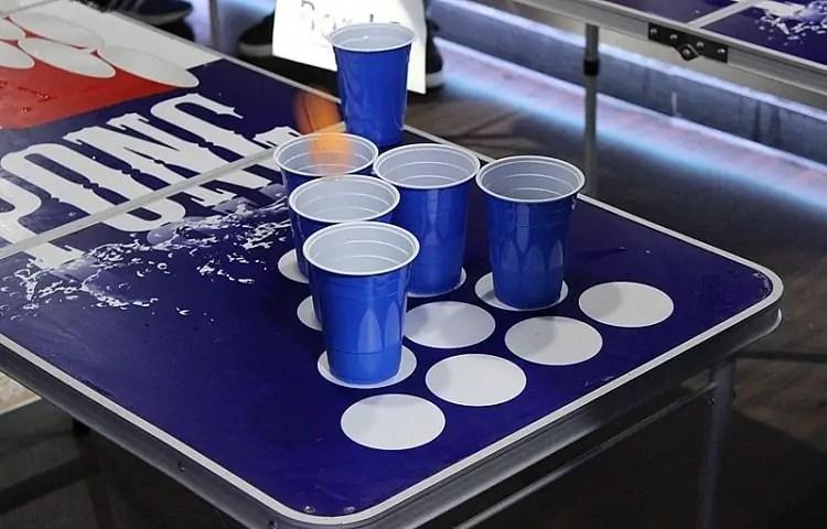 beer ponge table cup fixes
