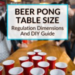 Beer Pong Table Size