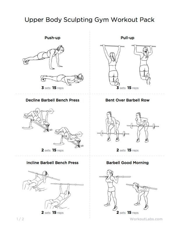 Upper body gym workout female at home viewyoga fastest t to lose weight in a month simple loss meal ccuart Images