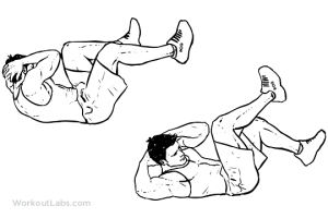 Bicycles  ElbowtoKnee Crunches  Crossbody Crunch | Illustrated Exercise guide  WorkoutLabs