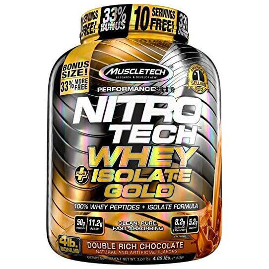 MUSCLETECH - Nitrotech Whey Plus Isolate