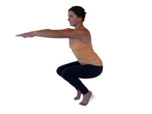 Half Squat Pose