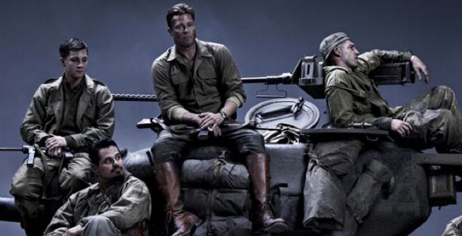 fury: brad pitt workout