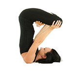 Upward Lotus in Shoulder Stand Pose (Urdhva Padmasana) thumbnail