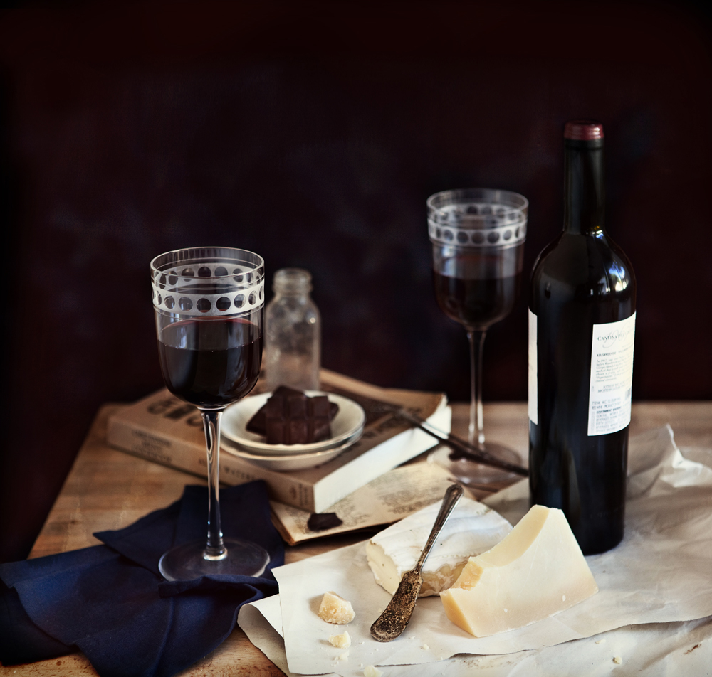CHOCOLATE, WINE, AND CHEESE