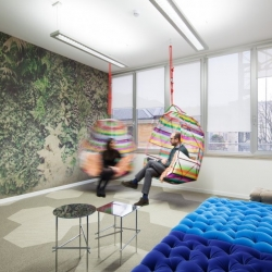An office that depicts the future of work