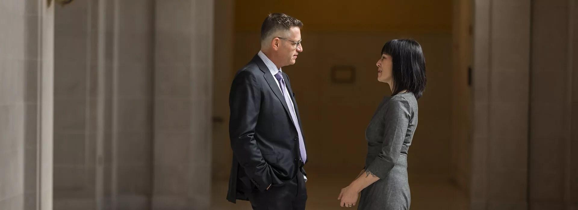 Jeffrey and Michaela Talking