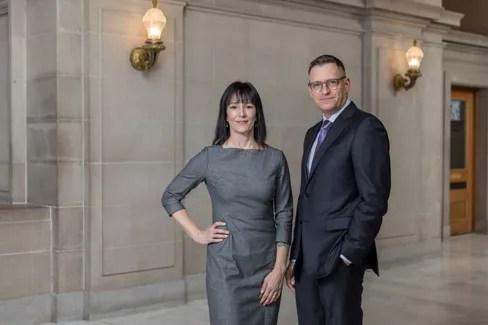 Jeffrey and Michaela standing in hallway