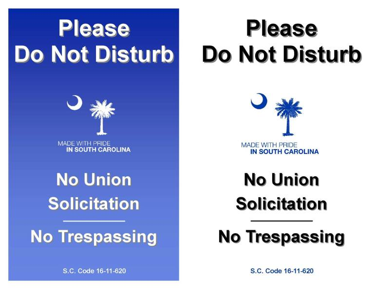Boeing Do Not Disturb Signs