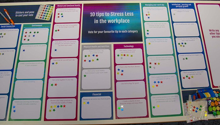 WayAhead Workplaces - 10 Tips to stress less table