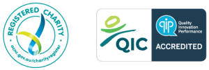 REgistered charity an QIP logo