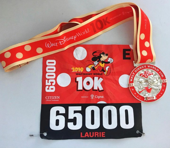 10K Bib and Medal