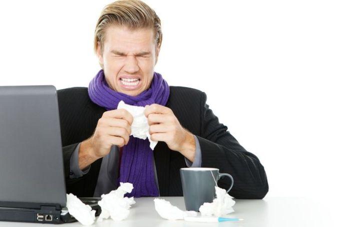 krank im büro