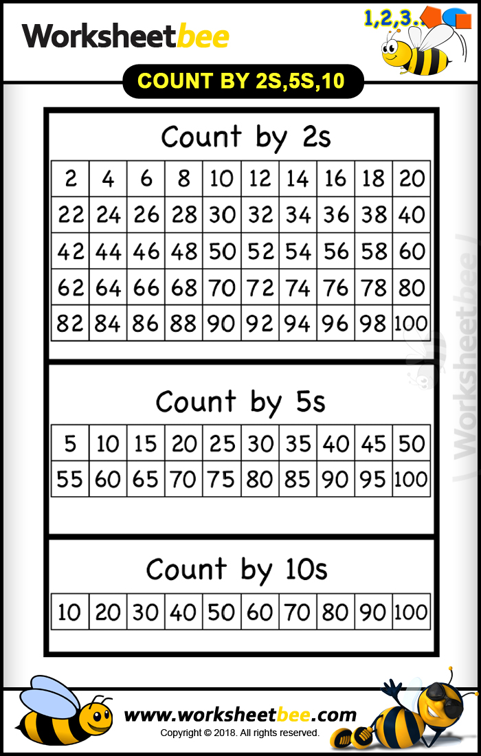 Count By 2s 5s 10s Long Worksheet For Bet Practice