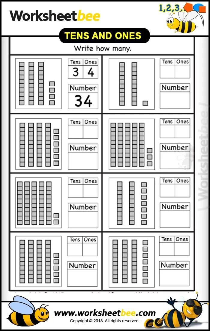 Tens and Ones Worksheet Printable - Worksheet Bee