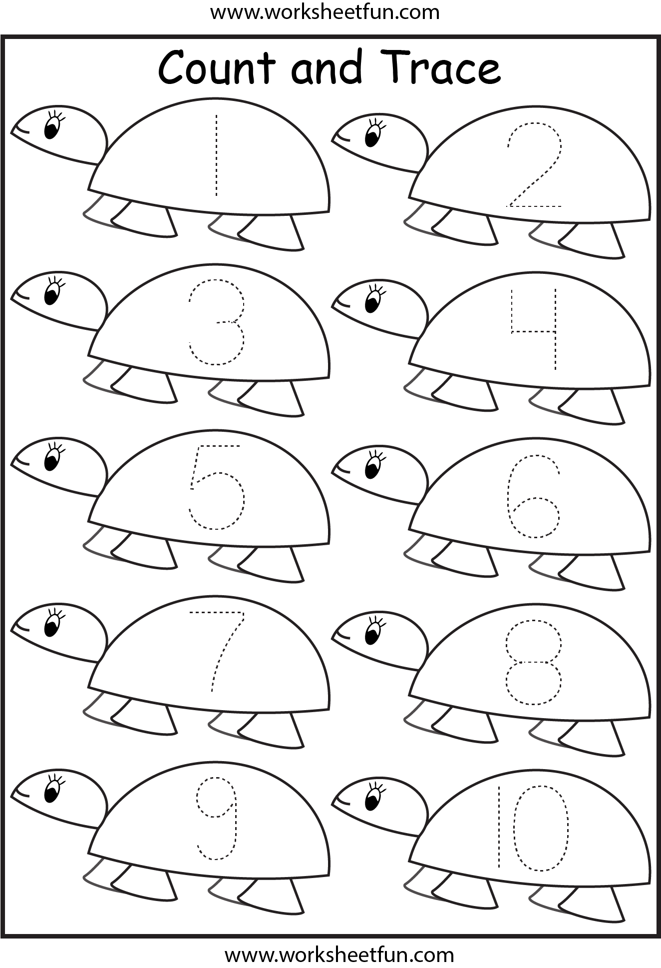 Preschool Number Tracing Worksheet 11 20