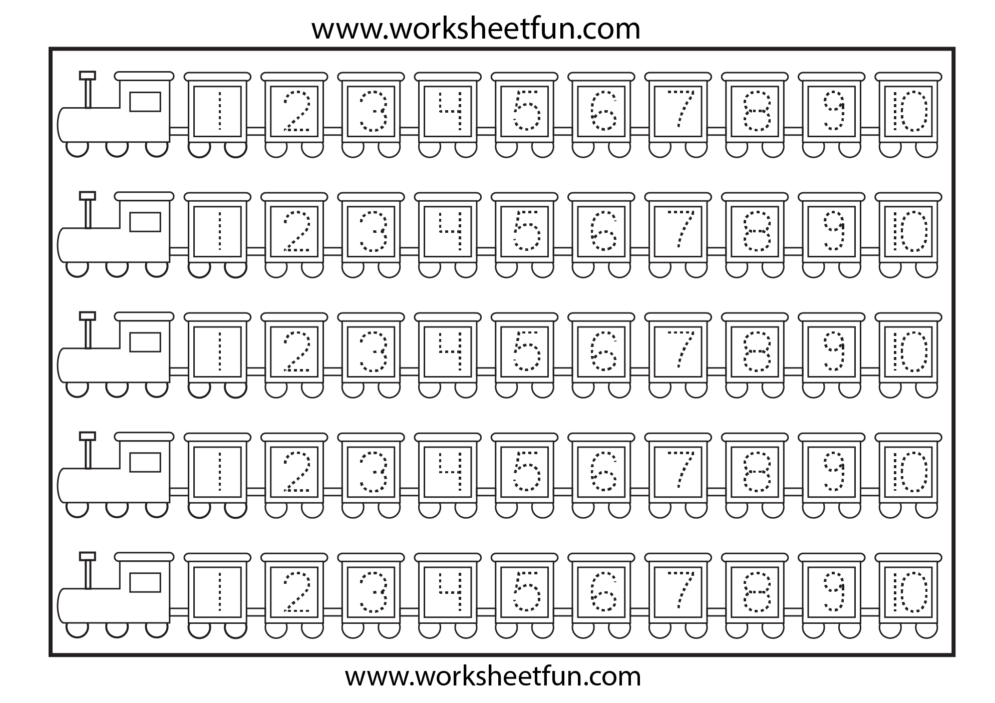 Number Tracing 4 Worksheets Free Printable Worksheets Worksheetfun