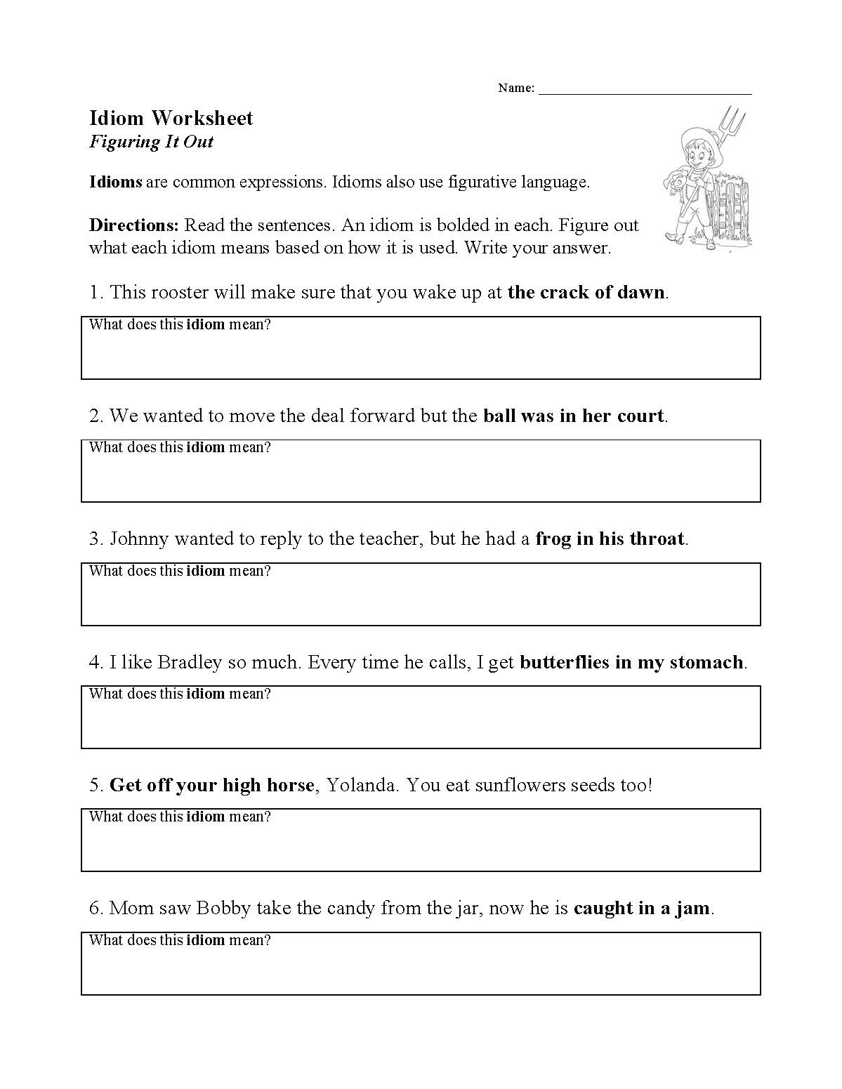 Literary Technique Worksheets